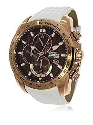 Pit Lane Uhr mit Miyota Uhrwerk Pl-1006-4 weiß 46 mm