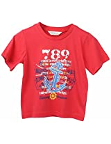 Beebay Boys Anchor Print T-shirt Red 12Y