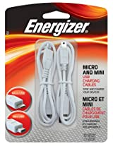 Energizer PC-CB70 Micro/Mini USB Charging Cables (Pack of 2)