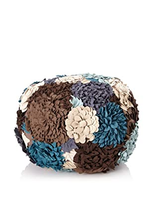 Zalva Volza Multi Pouf, Grey/Teal