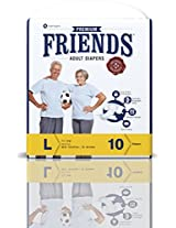 Friends Adult Diaper (Premium) - Large (10 Count)