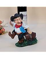 Resin wine rack cowboy wine holder American crafts Home Furnishing ornament