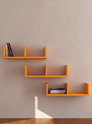 Decortie by Homemania Set 3 Estantes U (Naranja)