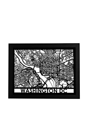 Cut Maps Washington DC Framed 3-D Street Map