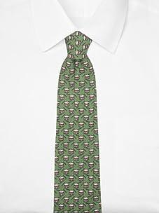 Hermès Men's Snare Drum Tie (Green/Black/Brown)