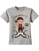 Chhota Bheem Boys T-Shirt (GGAPP-MR18C - Grey Milange_5-6 years)