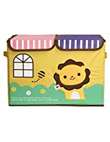 UberLyfe Foldable Kids Storage Box Organizer- Double Flap - Large (Mighty Lion)