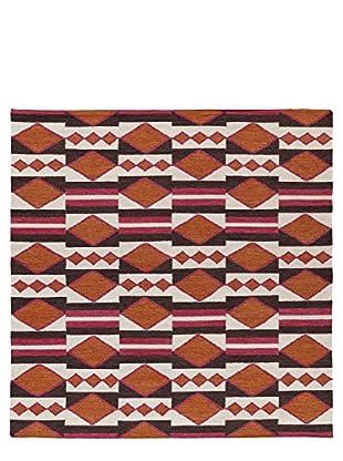 Kaleen Nomad Rug, Tangerine, 8' Square