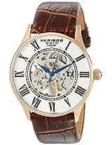 Akribos XXIV Men's Brown Leather Analogue Watch - AK499RG