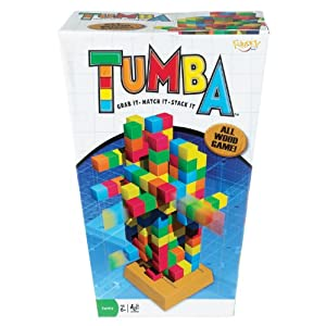 POOF-Slinky 0X2549 Ideal Tumba Block Stacking Strategy Game with All Wooden Multi-Colored Pieces