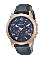 Fossil End-of-Season Analog Blue Dial Men's Watch - FS4835