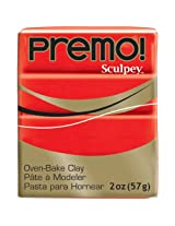 Sculpey Premo 2oz CADMIUM RED 5382
