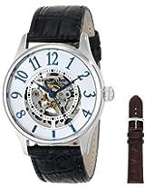 Stuhrling Original Men's 746L.SET.01 Delphi Solaris Automatic Skeleton Silver Watch with Additional Strap