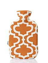 PLUCHI MESOPOTAMIA Orange 100 % cotton & Knitted Hot water Bottle cover