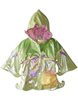 Kidorable Little Girls' Fairy Polyurethane Raincoat, Green, 1T