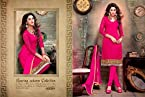 Pink Embroidered Unstitched Suit SG05