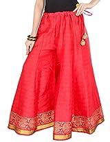 9Rasa Womens Cotton Trousers ,Red ,Free Size