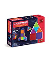 Magformers Rainbow Opaque Solid Set (40-pieces)