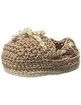 Jefferies Socks Baby Boys' Crochet Bootie, Khaki, Newborn