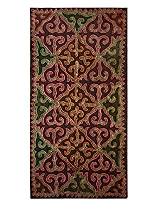 nuLOOM One-of-a-Kind Hand Crafted Shydrak Felted Tribal Rug, Multi, 4' 11