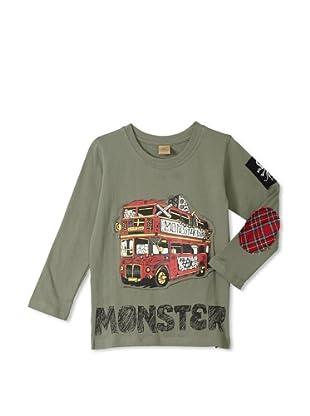 Monster Republic Boy's London Punk Bus Tee (Olive)