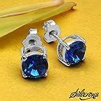Silverona Swarovski Silver Earrings
