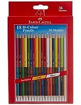 Faber-Castell Bi-Colour Pencil - 36 Colours (Pack of 18)