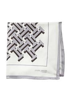 Joseph Abboud Men's Bricks Pocket Square, Grey