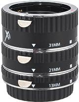 Xit XTETC Auto Focus Macro Extension Tube Set for Canon SLR Cameras (Black)