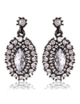 Cinderella Collection by Shining Diva Silver Crystal Drop Earrings for Women 6977er