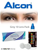 Alcon Freshlook One-Day Grey Color Contact Lenses By Visions India 10 Lens Pack-0.00