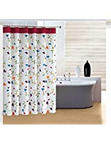 Bathroom Waterproof Polyester Flower Thicker Shower Curtain(180*180cm)