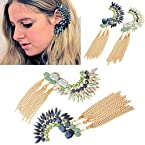 Femnmas Tassel Rhinestone Party Statement Punk Ear Cuff |Bollywood Ear cuff