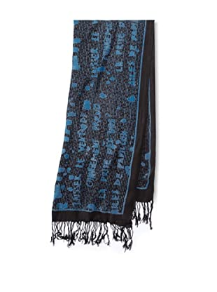 Raj Imports Women's Graffiti Scarf (Blue/Black)