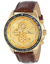 Lucien Piccard Men's LP-12552-YG-10-BR Cartagena Analog Display Japanese Quartz Black Watch