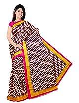 Bhagalpuri Silk Printed Pink Bhagalpuri Silk Saree - SIXVP03A