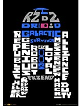 Official Star Wars R2-D2 Words A3 Poster