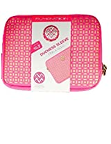 Macbeth Collection Fashionation Elegant Pink and Gold Duchess Laptop Sleeve - Fits up to 10.2""