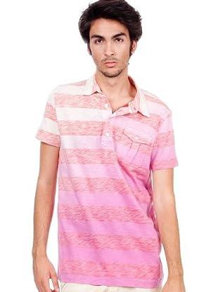 Custo Poloshirt (Weiß/Rot)