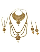 Exclusive Gold Plated Fashion Design Royal Look Polki Bridal Necklace Set For Women