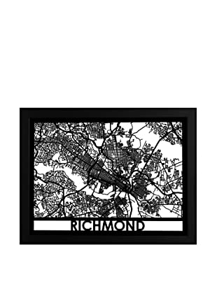 Cut Maps Richmond Framed 3-D Street Map