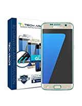 Tech Armor SP-BG3D-SAM-GS7E-GLD-1 3D Curved HD Clear Ballistic Screen Protector for Samsung Galaxy S7 Edge