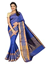 Korni Cotton Silk Banarasi Saree ISL-1051- Blue KR0468