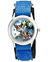 Marvel Avengers: Age of Ultron Kids' W002236 Hulk,Captain America and Iron-Man Blue Watch