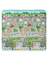 Portable Baby Crawling Mat Eco-friendly Climb Rug Traffic Building City Map