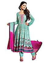 atisundar bewitching Blue Embroidered Anarkali- 4138_39_318