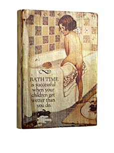 Artehouse Bath Time Reclaimed Wood Sign