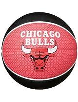Spalding Chicago Bulls Basketball, Size 7 (Red/Black)