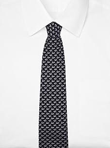 Hermès Men's Snail Tie (Black/Gray)