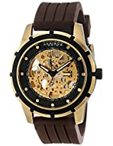 Akribos XXIV Men's Brown Rubber Analogue Watch - AKR444YG